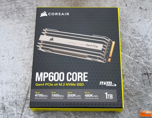 Corsair MP600 CORE 1TB NVMe SSD Retail Box