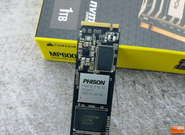 Corsair MP600 CORE 1TB NVMe SSD - Phison E16 Controller