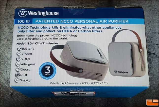 Westinghouse 1804 Portable Air Purifier
