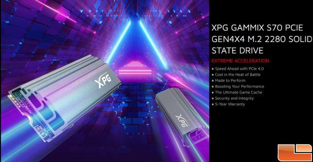 XPG Gammix S70 Infographic