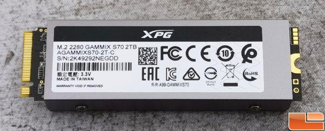 XPG GAMMIX S70 NVMe SSD Back