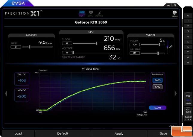 EVGA Precision X1 GeForce 3060 Scan Tool