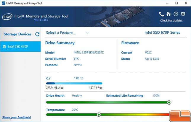 Intel Memory and Storage Tool 670p