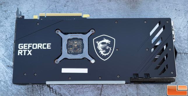 MSI GeForce RTX 3060 Gaming X Trio Video Card Backplate