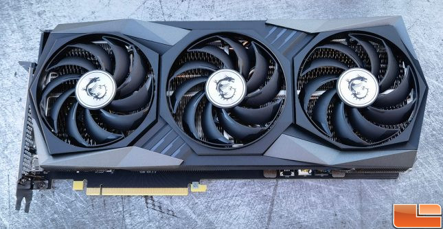 MSI GeForce RTX 3060 Gaming X Trio Video Card Front