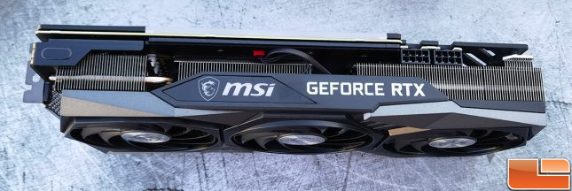MSI GeForce RTX 3060 Gaming X Trio Video Card Top