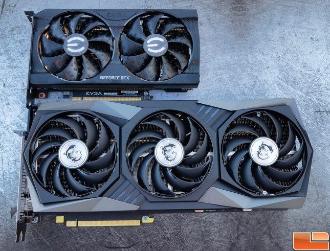 MSI Versus EVGA GeForce RTX 3060 Cards