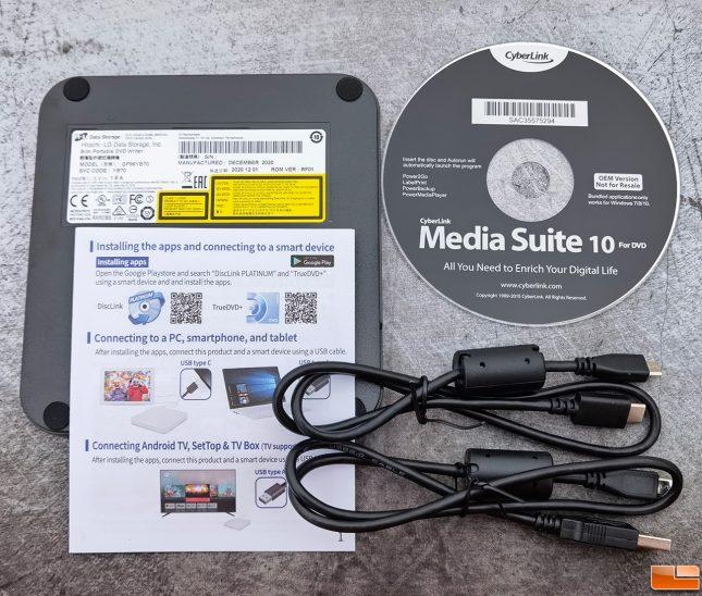 Hitachi LG GP96Y Portable DVD Writer Accessories