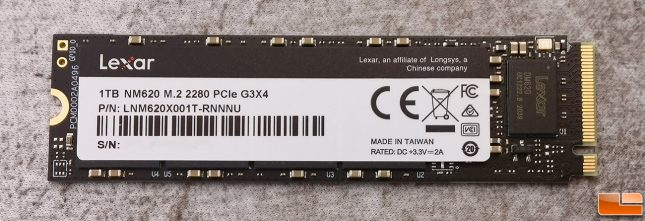 Lexar NM620 1TB NVMe SSD Front