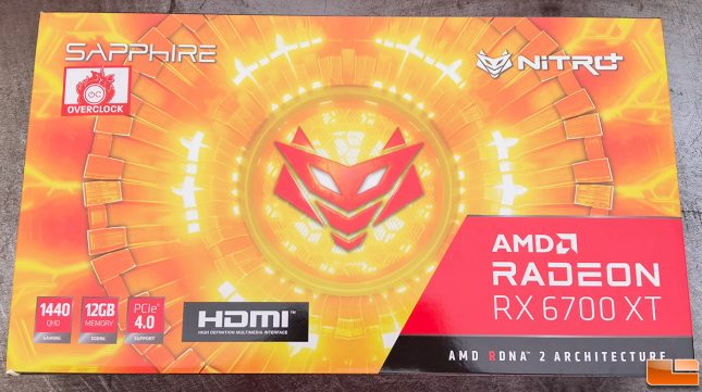 Sapphire Radeon RX 6700 XT Nitro+ Overclock
