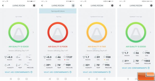 Airthings Wave Plus Air Quality Over Time
