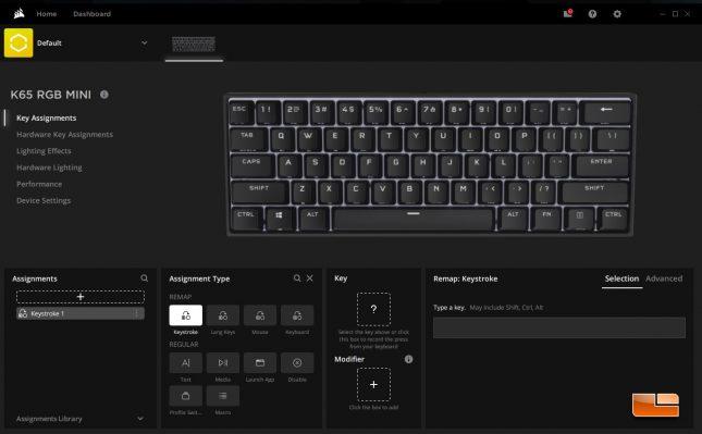 K65 RGB Mini Key Assignment