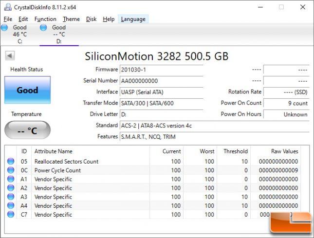 Patriot SuperSonic Rage Pro 512GB USB Flash Drive CrystalDiskInfo