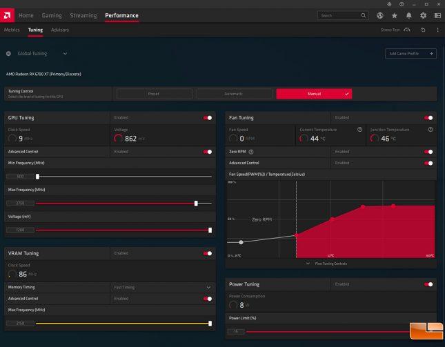 Radeon RX 6700 XT Performance Tuning