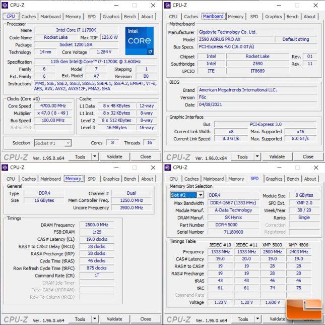 Adata Spectrix D50 Xtreme CPU-Z