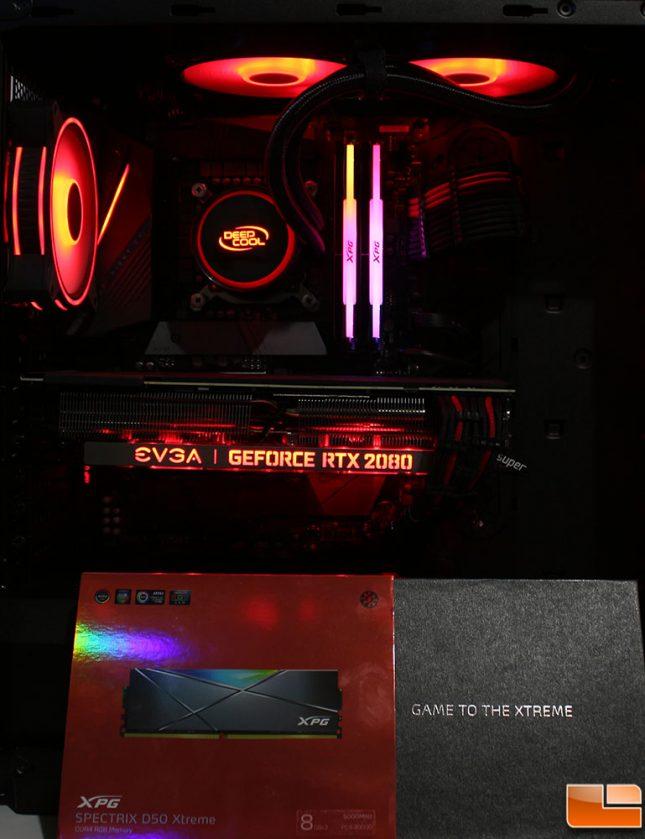 Adata Spectrix D50 Xtreme Installed