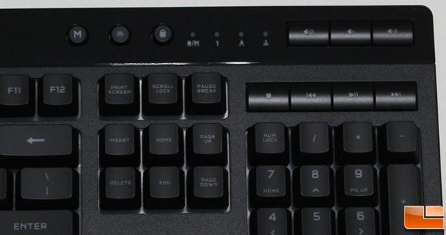 Corsair K55 RGB Pro XT Keyboard Media Keys