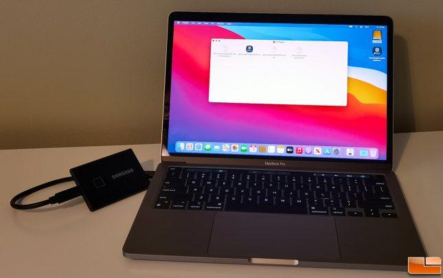 Apple Mac M1 w/ Samsung T7 Touch