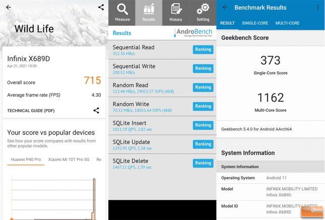 Infinix Hot 10S NFC Benchmarks