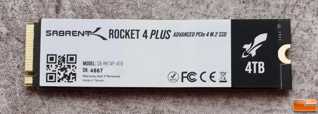 Sabrent Rocket 4 Plus 4TB Gen4 SSD Back