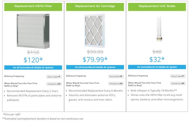 EnviroKlenz Air System Plus Filter Cost