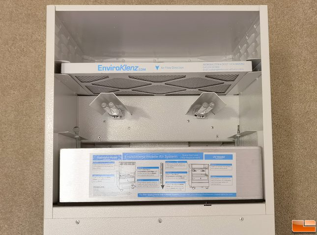 EnviroKlenz Air System Plus Filters Installed