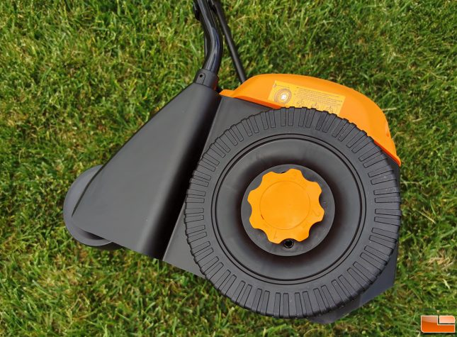WORX WG850 Electric Dethatcher Height Adjustment